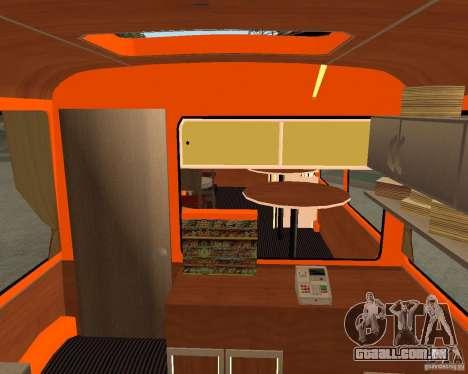 LIAZ-677 (momento de Café) para GTA San Andreas vista traseira