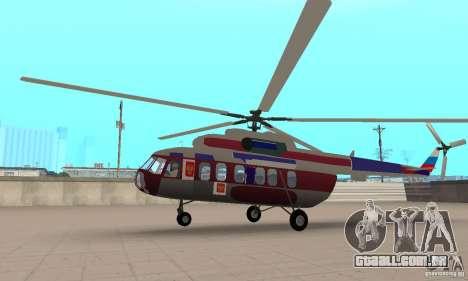 MI-17 civis (inglês) para GTA San Andreas traseira esquerda vista