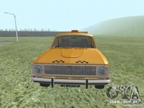 Táxi GAZ 24-01 para GTA San Andreas vista direita