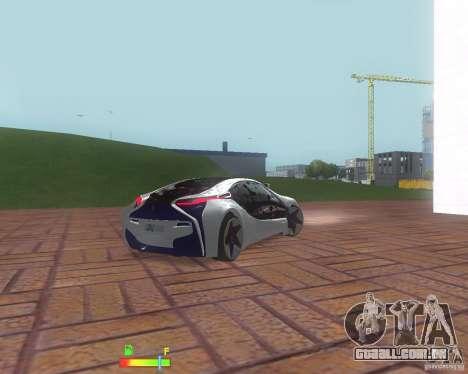 BMW i8 para GTA San Andreas traseira esquerda vista