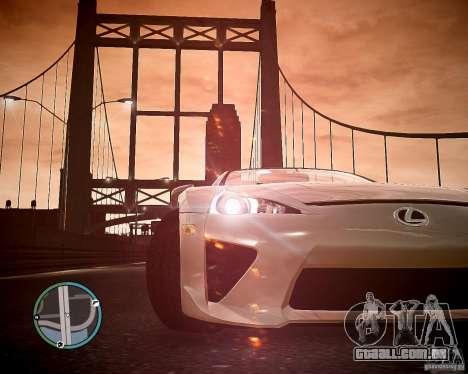 Lexus LF-A Roadster para GTA 4 vista direita