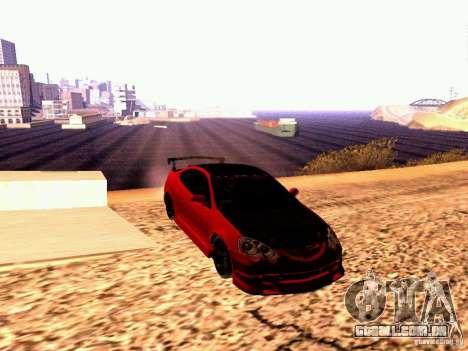 Acura RSX Drift para GTA San Andreas vista direita