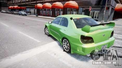 Subaru Impreza STI Wide Body para GTA 4 rodas