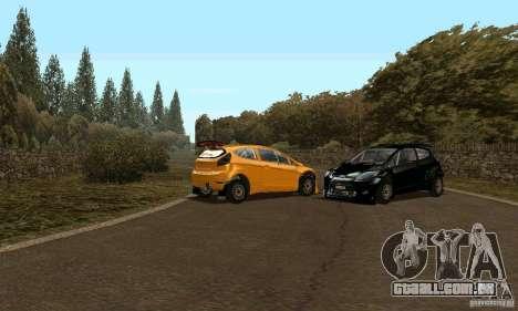 Ford Fiesta Rally para GTA San Andreas traseira esquerda vista