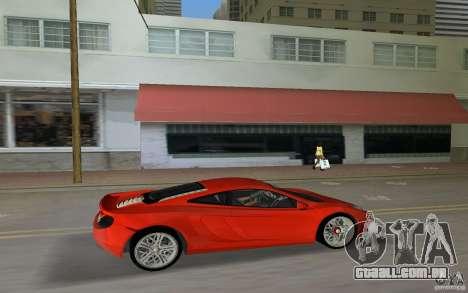 Mclaren MP4-12C para GTA Vice City vista traseira esquerda