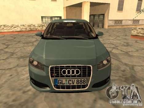 Audi S3 Sportback 2007 para GTA San Andreas esquerda vista