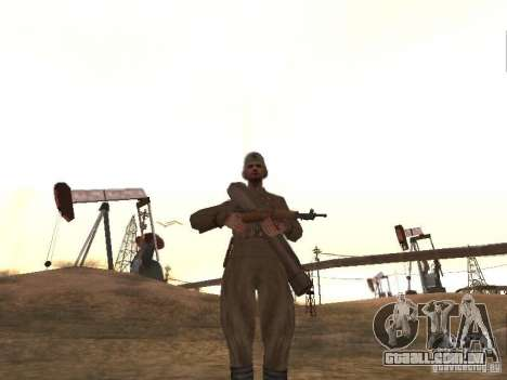 Um soldado soviético para GTA San Andreas segunda tela