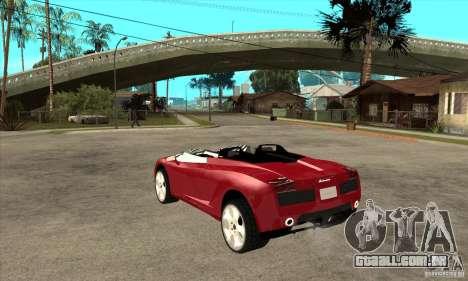 Lamborghini Concept S para GTA San Andreas traseira esquerda vista