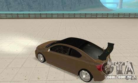 Toyota Scion tC Edited para GTA San Andreas vista direita