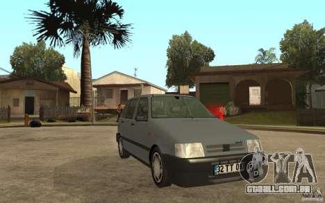 Fiat Uno 70s para GTA San Andreas vista traseira