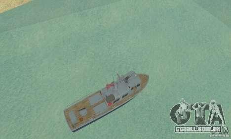 Coast Guard Patrol Boat para GTA San Andreas vista direita