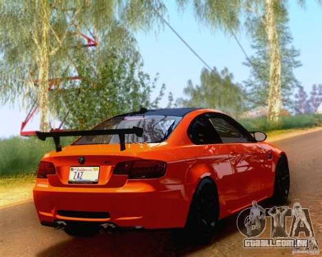 BMW M3 GT-S 2011 para GTA San Andreas esquerda vista