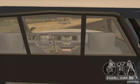 Ford Crown Victoria Arizona Police para GTA San Andreas traseira esquerda vista
