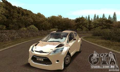 Ford Fiesta Rally para GTA San Andreas vista interior