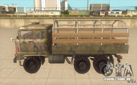 IFA 6x6 Army Truck para GTA San Andreas esquerda vista