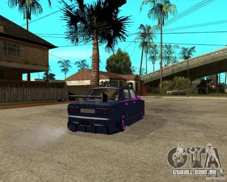 Vaz 2105 rua corrida Tuning para GTA San Andreas traseira esquerda vista