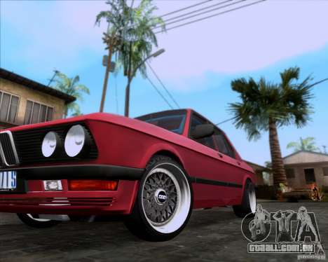 BMW 5-er E28 para GTA San Andreas vista superior