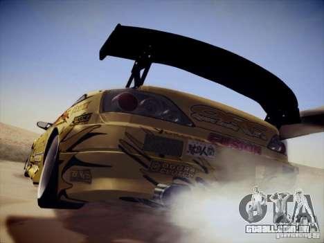Nissan Silvia S15 Top Secret v2 para GTA San Andreas traseira esquerda vista