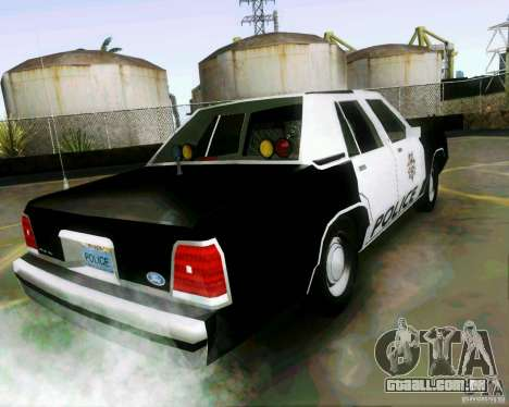 Ford Crown Victoria LTD 1991 LVMPD para GTA San Andreas esquerda vista
