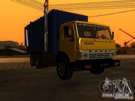 Caminhão de lixo 53212 KAMAZ para GTA San Andreas