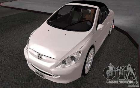 Peugeot 307CC BMS para GTA San Andreas vista traseira