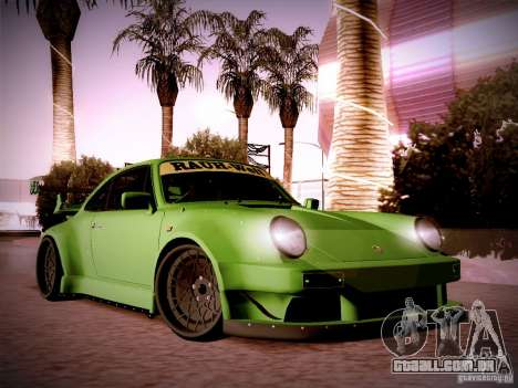 Porsche 911 Turbo RWB Pandora One para GTA San Andreas vista interior