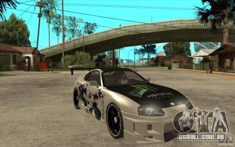 Toyota Supra 1995 Street Edition para GTA San Andreas vista traseira