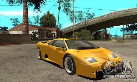 Lamborghini Diablo GT-R 1999 para GTA San Andreas vista traseira