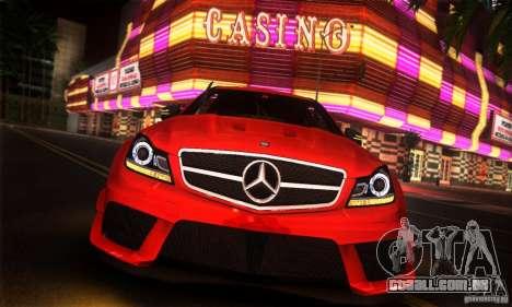 Mercedes Benz C63 AMG para GTA San Andreas vista direita