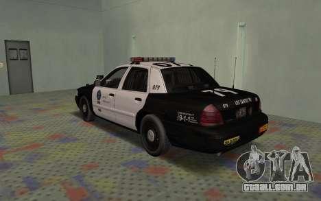 Ford Crown Victoria Police Interceptor LSPD para GTA San Andreas