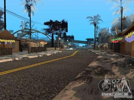 Véspera de ano novo no Grove Street para GTA San Andreas sétima tela