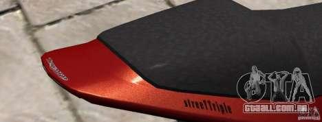 PCJ600 to Triumph StreeTTriple para GTA 4 traseira esquerda vista