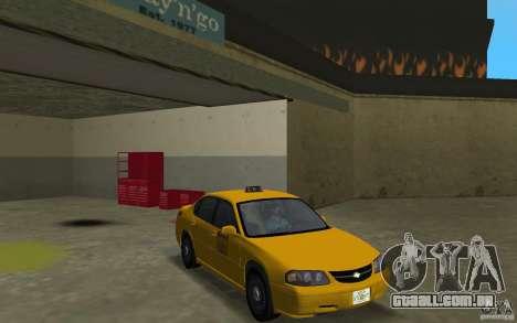 Chevrolet Impala Taxi para GTA Vice City vista traseira
