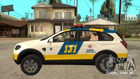 Chevrolet Captiva Police para GTA San Andreas esquerda vista
