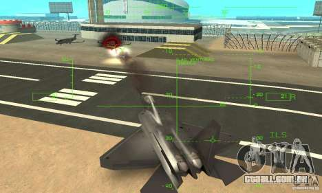 YF-22 Black para GTA San Andreas vista inferior
