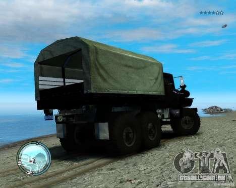 Ural 4320 para GTA 4 traseira esquerda vista