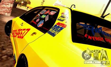 Mitsubishi Lancer Evolution VIII - ProSpeed para GTA San Andreas traseira esquerda vista