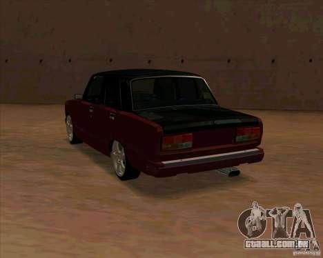 Vaz-2107 para GTA San Andreas traseira esquerda vista