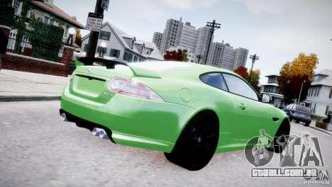 Jaguar XKR-S 2012 para GTA 4 traseira esquerda vista