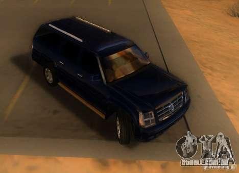 Cadillac Escalade ESV 2006 para GTA San Andreas esquerda vista
