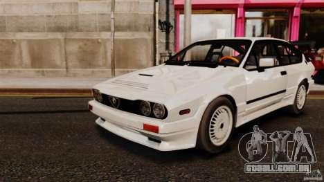 Alfa Romeo GTV6 1986 para GTA 4