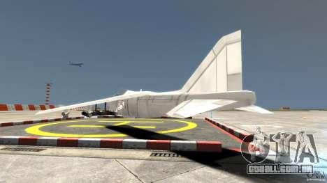 Liberty City Air Force Jet para GTA 4 traseira esquerda vista