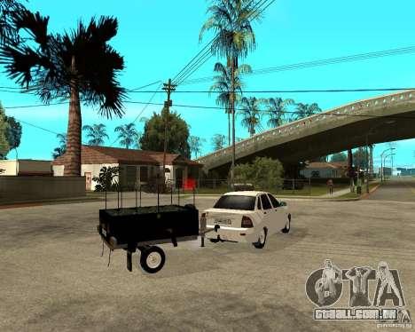 2170 LADA Priora luz tuning e reboque para GTA San Andreas traseira esquerda vista