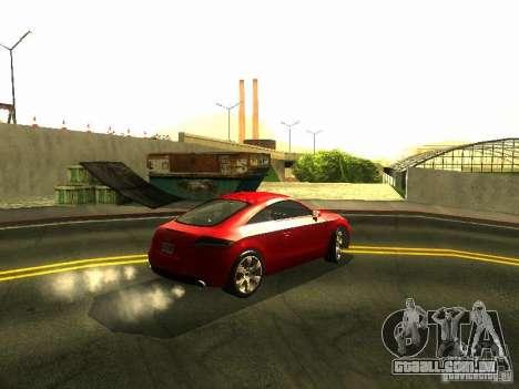 Audi TT 2009 v2.0 para GTA San Andreas vista traseira