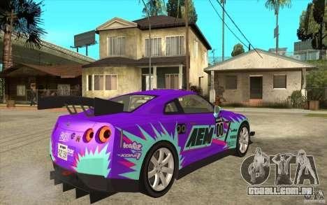 Nissan GT R Shift 2 Edition para GTA San Andreas vista traseira
