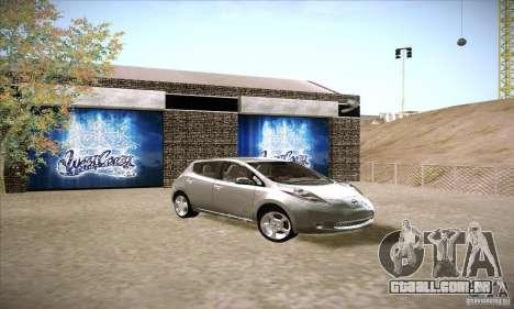 Nissan Leaf 2011 para GTA San Andreas vista direita