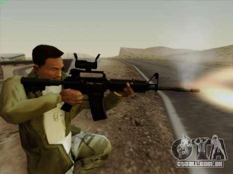 Colt Commando Aimpoint para GTA San Andreas quinto tela