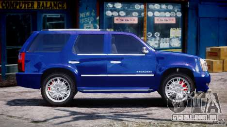 Cadillac Escalade [Beta] para GTA 4 vista lateral