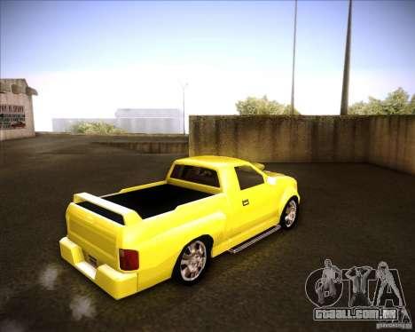 Dodge Dakota tuning para GTA San Andreas traseira esquerda vista