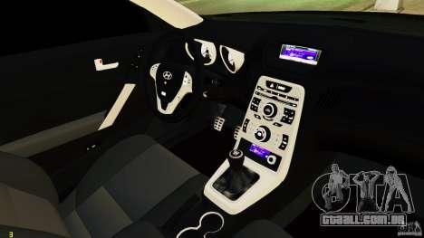 Hyundai Genesis Coupe 2010 para GTA 4 vista interior